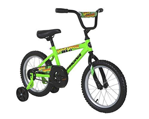 """Magna Major Damage 16"""" Bike - Green - For Ages 4-8"""