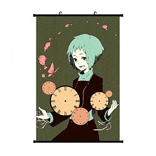 YDAJERE Fuuka Yamagishi Person-a Wall Hanging Scroll Poster Wall Art Print Artwork Painting for Living Room Bedroom Home Decor Fans Gift