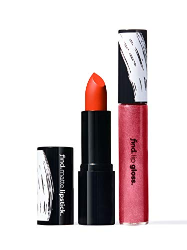 Marque Amazon - find. Bright Muse (Rouge à lèvres mat n.10 + Gloss à lèvres n.3)