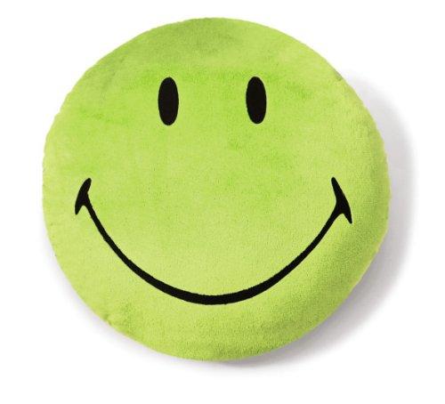 NICI 35874 - Kissen Smiley, Plüsch, rund, Durchmesser 35 cm, grün