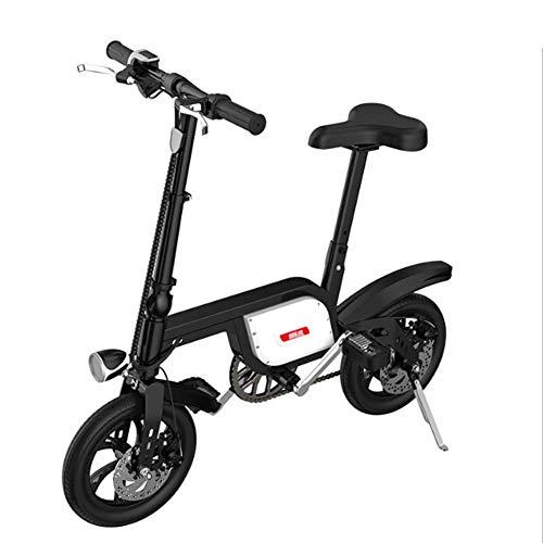 Opvouwbare elektrische fiets, inklapbare mountainbike, 12 inch, lichte vouwfiets, 250 W, vouwfiets, met led-voorlicht, oplaadtijd: 3-5 uur (25 km/h)