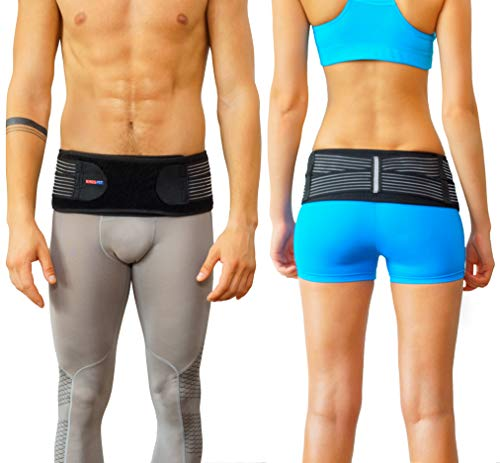 Sacroiliac Joint Brace SI Belt to Relieve Leg/Sciatica Nerve Pain, Lower Back Pain and Lower Spine and Hips Pain | Breathable, Comfortable, Anti-Slip Back Braces