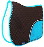 CHALLENGER Horse Quilted English Saddle PAD Trail Pleasure Riding Brown Turquoise 72F07