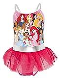 Disney Bañador para Niña Princesas, Bañadores de Una Pieza con Jasmine, La Cenicienta, Rapunzel, Bella, La Sirenita Ariel, Regalos Niñas 2-10 Años (3/4 Años, Rosa)