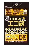 ゴミ袋 ECOTAI ECO 10~15L 450x500x0.025厚 黒 20枚バラ LLDPE素材 エコ袋