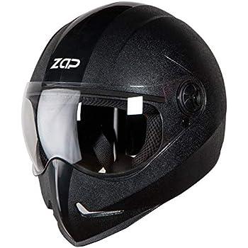 Steelbird SB-50 Adonis Zap Classic Full Face Helmet Stylish Bike Helmet (Large 600 MM, Black with Plain Visor-Designed For Aerodynamics Ride)