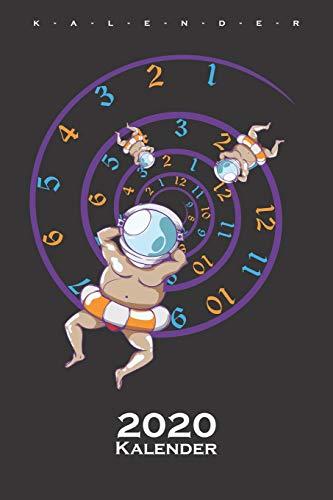 Merkwürdiger Zeitstrudel Kalender 2020: Jahreskalender für Zeitreise und Science-Fiction Fans