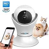 HD 1080p Pet Camera,Dog Camera 360° Pet Monitor Indoor Cat Camera with Night Vision and Two Way Audio