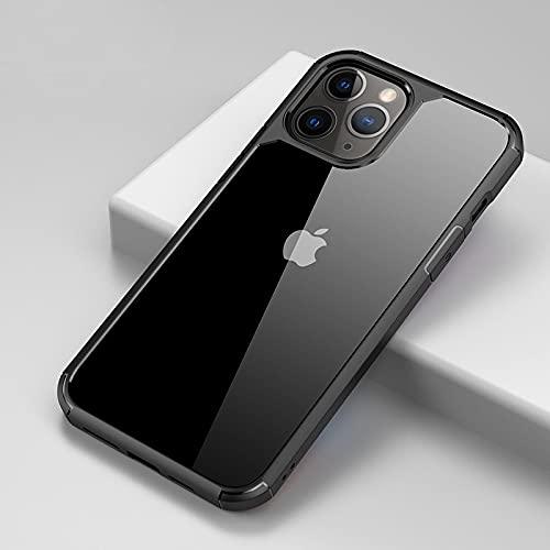 IRRIGATE Funda de silicona para iPhone iPhone 7/8/7/8Plus/X/Xs/Xsmax/Xr/11/11Pro/11Promax/12(5.4)/12(6.1)/12(6.7) Negro Iphone11