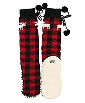 knee high slipper socks with grippers
