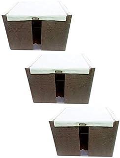 MU Grande boîte de rangement avec fermeture à glissière, boîte de rangement pour couette pour jouet d'habillement, boîte d...