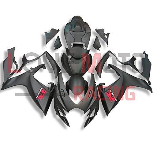 LoveMoto Carenados para GSX-R600 GSX-R750 K6 2006 2007 06 07 GSXR 600 750 Kit de carenado de Material plástico ABS Moldeado por inyección para Moto Negro