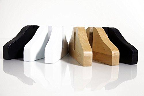 Holz Standfüße für DELUXE Fern-Infrarotheizung (NATURBRAUN)