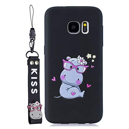 HongYong 3D Kompatibel mit Samsung Galaxy S7 Edge Hülle,Ultra Dünn Galaxy S7 Edge Handyhülle,Anti-Fingerabdruck, Hohe Zähigkeit Kratzfest Weich Silikon Schutzhülle, Soft TPU Samsung S7 Edge Hülle