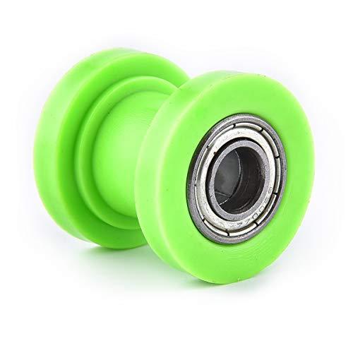 Rodillo deslizante de cadena de 10 mm de diámetro interior, repuesto para tensor de rueda de conducción, rueda china sucia, pit bike, motocicleta, ATV, verde