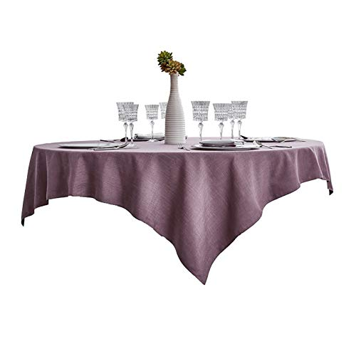 Rectangle Table Cover Table Cloth Washable Cotton Linen Wrinkle Free Modern Minimalist Solid Color Christmas New Year Decoration Tablecloth Table Cover Great for 4-8 People,9 Colors Great for Kitchen
