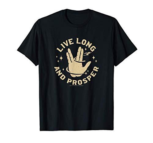 Star Trek Live Long And Prosper Enterprise Maglietta