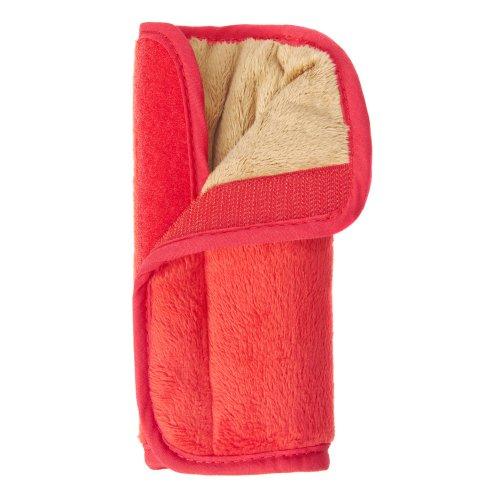 Your Baby 75142 - Almohadilla para cinturones de seguridad, color marrón y rojo