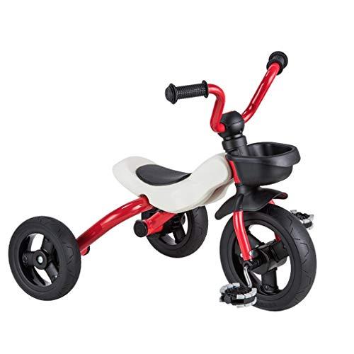 Dreiräder Dreirad Kinderdreiräder Baby Dreirad Kinderwagen Dreirad Ab 1-6 Jahre 3 In 1 Kombikinderwagen Dreirad Ab 3 Jahren Umweltschutz Stahl 4 Farben (Color : Red)