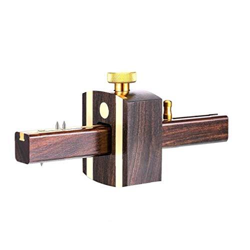 Gramil Tratamiento de la madera de ébano Negro deslizante Marcos raspador de madera encajadas herramienta de medición con tornillo de latón Accesorios Tipo