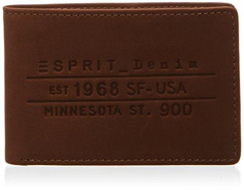 ESPRIT mit Prägung im Vintage Stil 114EA2V011 Unisex-Erwachsene Geldbörsen 10x7x1 cm (B x H x T), Braun (CHOCOLATE BROWN 248)
