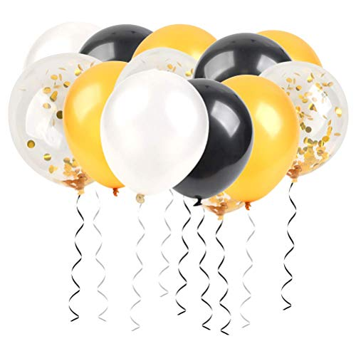 """""""N/A"""" Luftballons Schwarz Gold Weiß, Ballon Girlande Kit Ballons Arch für Damen Herren Abschluss Halloween Party Geburtstag Deko, Deko Silvester 2020, Graduierung,"""