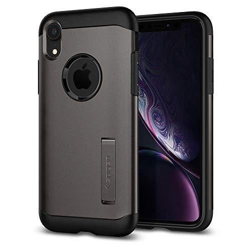 Preisvergleich Produktbild Spigen Slim Armor Handy Tasche 15, 5 cm (6, 1 Zoll) grau - Handyhüllen (Case,  Apple iPhone XR,  15, 5 cm (6, 1 Zoll),  Grau)