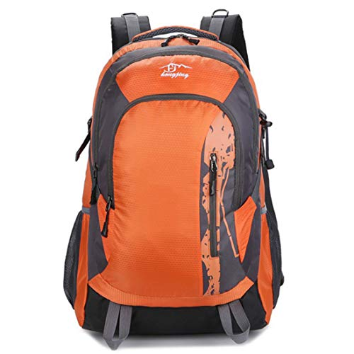 JIANZ Daypacks Outdoor Sports Waterproof Double Shoulder Mountaineering Bag Best Travel Backpack (Color : Orange)