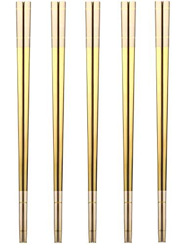 Devico Chopsticks Reusable, Premium 18/8 Stainless...