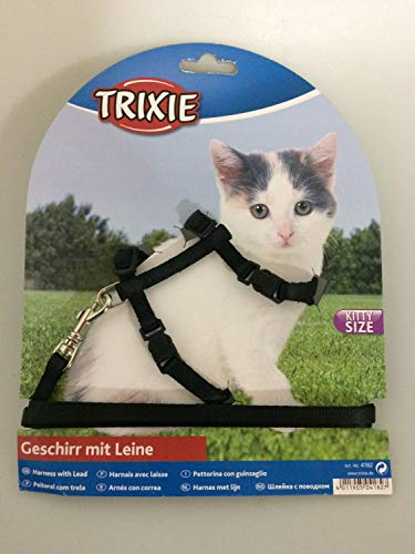 Trixie 4182 Kätzchengeschirr mit Leine, Nylon, 19–31 cm/8 mm, 1,20 m