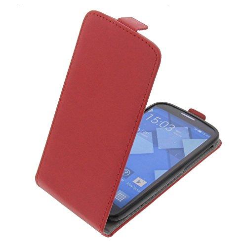 foto-kontor Funda para Alcatel One Touch Pop C7 Protectora Tipo Flip para móvil roja