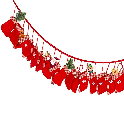 Edaygo Adventskalender zum Selbstbefüllen Weihnachtskalender zum Befüllen, Stiefel