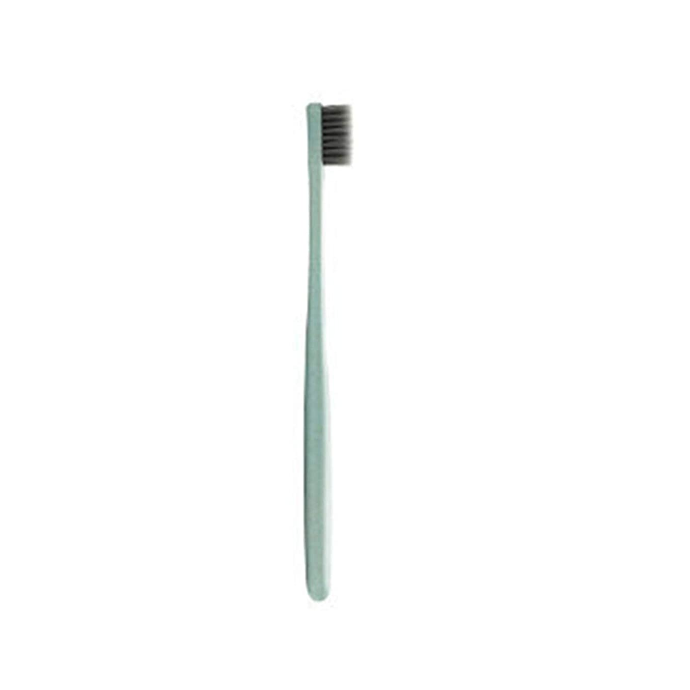 出席するうめき残高K-666小麦わらの歯ブラシ歯のクリーニングブラシ竹炭毛ブラシ環境に優しいブラシ歯のケア - ピンク