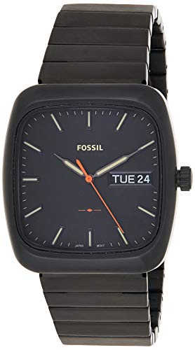 Fossil Men's Rutherford FS5333 Black Stainless-Steel Quartz Fashion Watch