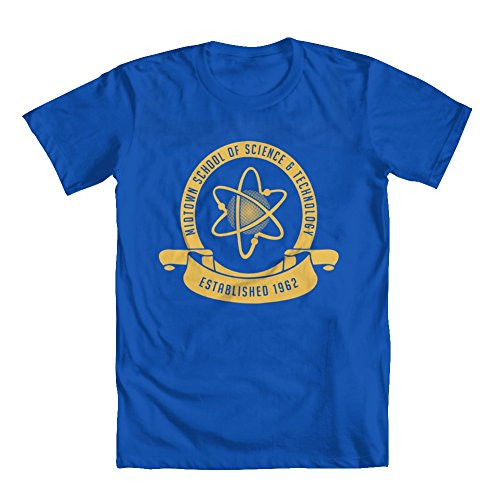 GEEK TEEZ Midtown School of Science & Technology Youth Boys' T-Shirt Blue Medium
