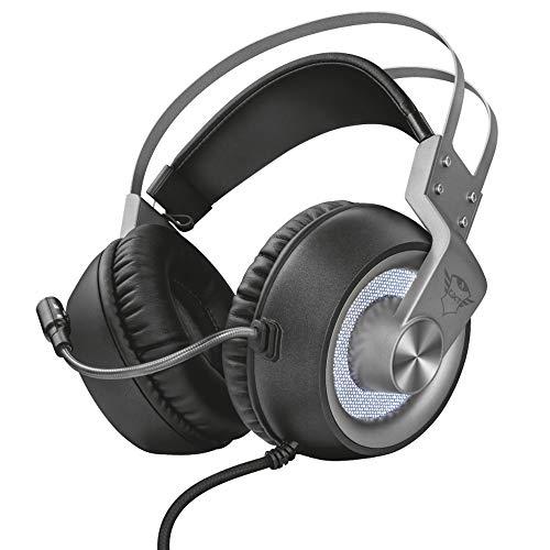 Trust GXT 435 Ironn Binaural Diadema Negro - Auriculares con micrófono (PC/Juegos, 7.1 Canales, Binaural, Diadema, Negro, Giratorio)