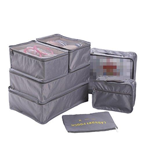 WSLCN BB0463 - Organizador para maletas unisex adulto, Grey 7PCS (Gris) - BB0463-A