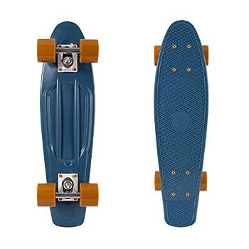 Retrospec Quip Skateboard 22.5  Classic Retro Plastic Cruiser Complete Skateboard with Abec 7 bearings and PU wheels