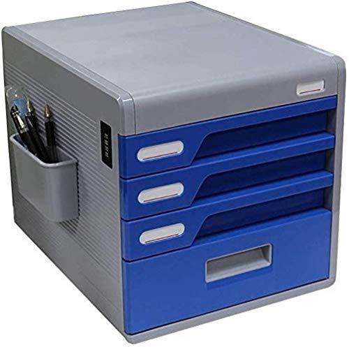 Archivador plano Archivadores Mejora la eficiencia de la Oficina de Escritorio papelería Archivo Caja de Almacenamiento de contraseña Gabinete Índice de Etiquetas Pluma de plástico PP - 30x38x32cm