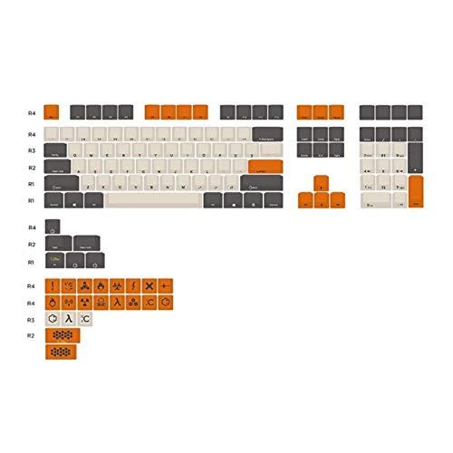 YWF Keycaps Color de Carbono 104 + 21 Perfil de Tallado Clave PBT G80-3800 3850 3000 Keycap de Teclado mecánico 83xb Teclado de hotswap (Color : 2)