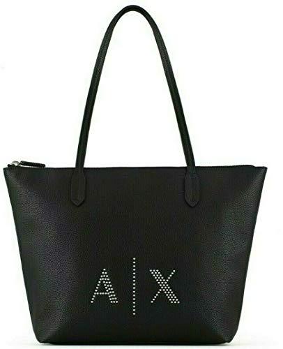 ARMANI EXCHANGE Borsa shopping bag black borchie