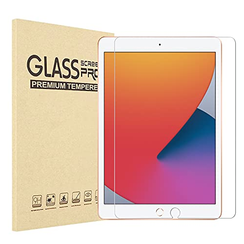 [1 Stück] ipad 8 Generation Panzerglas,Schutzfolie Kompatibel mit iPad 10.2 Zoll (iPad 7 2019,iPad 8 2020)