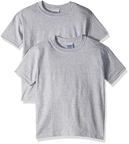 Gildan unisex child Ultra Cotton Youth T-shirt, 2-pack T Shirt, Sport Grey, X-Small US