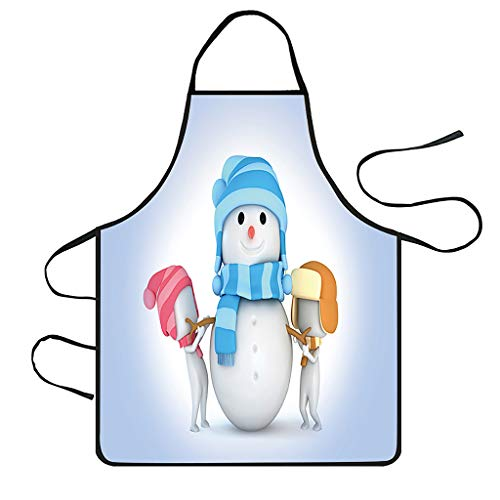 Shan-S Christmas Apron,Christmas Theme Decoration Waterproof Anti-Oil Apron for Xmas Dinner Party Cooking Baking Crafting House Cleaning Holiday Kitchen Party Hostee and Housewarming Gift-Mrs