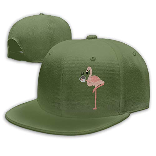 LanKa Coole rosa Flamingo Trinken Kaffee Männer Frauen verstellbare einfache Baseballmütze Papa Hut