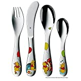 WMF Children's Cutlery Set 4-Piece Winnie The Pooh Cromargan 18/10 Stainless Steel Polished Suitable from 3 Years