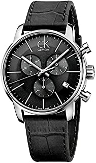 Calvin Klein City Watch for Men - Analog Leather Band - K2G271C3