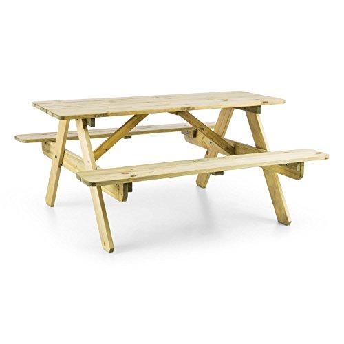 blumfeldt Table de Pique-Nique (Banc Meuble Jardin pour Enfants, résistant aux intempéries grâce à Son Traitement Autoclave, epaisseur de 2 cm) - Bois