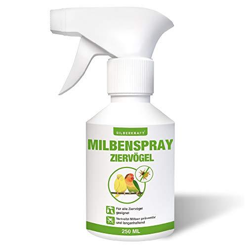 Silberkraft Milbenspray 250 ml für Ziervögel und Hühner, zuverlässiger Milbenschutz, effizientes und garantiert hilfreiches Anti-Milben-Mittel
