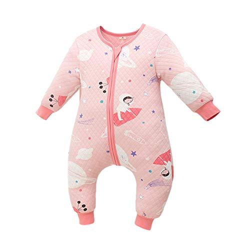 JunNeng Toddler Baby Cotton Sleep Bag Sleep Sack with Leg,Boy Girl Early Walker Warm Wearable Blankets (Planet, 1-2 Years)